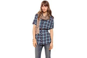 Madras plaid shirt dress with belt, $19.90, Forever21.com