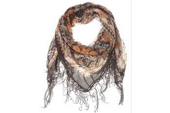 Border tassle scarf, $25, MissSelfridge.com