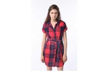BDG plaid dress, $29.99, Urbanoutfitters.com