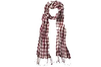 Plaid scarf with tassels, $12, GarageClothing.com