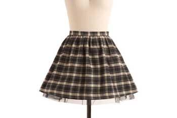 BB Dakota Discovery flannel skirt, $44.99, ModCloth.com