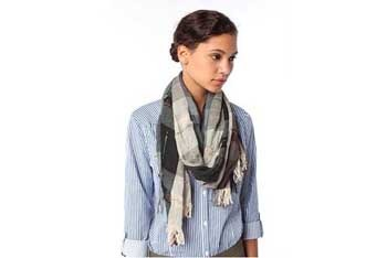 Mixed plaid oblong scarf, $14.99, UrbanOutfitters.com