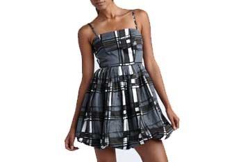 Modified plaid dress, $32, CharlotteRusse.com
