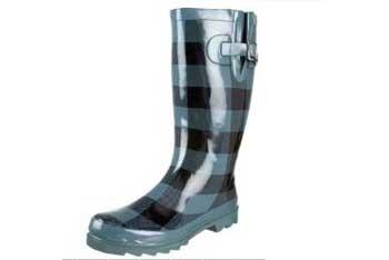Blue plaid rain boots, $39.95, Endless.com