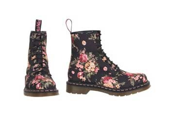Dr. Martens Floral boots, $129.50, Delias.com