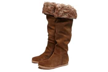 Tall suede boots, $79.50, AmericanEagle.com