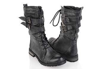 Buckle-up combat boots, $35.80, Forever21.com