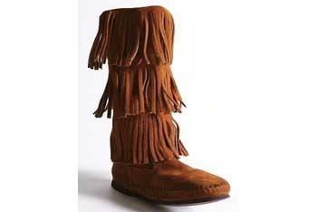 Minnetonka triple fringe boot, $88, UrbanOutfitters.com