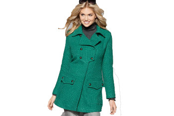 XOXO green coat, $54.99, Macys.com