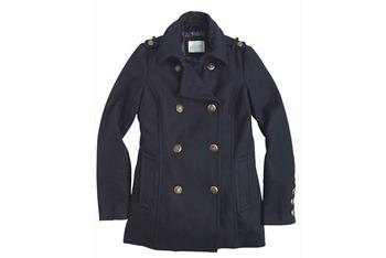 Navy Devin pea coat, $70, Delias.com