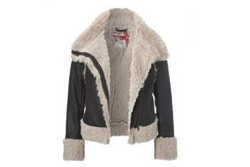 Furry aviator jacket, $40, NewLook.com