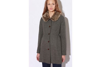 Cooperative Fur Collar lady coat, $138, UrbanOutfitters.com