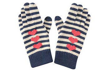 Striped heart gloves, Forever21.com, $6.90