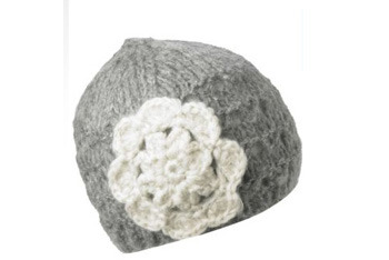 Flower trim beanie hat, NewLook.com, $10