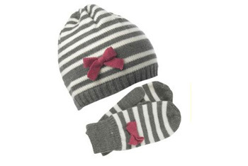 Stripe hat and glove set, NewLook.com, $14