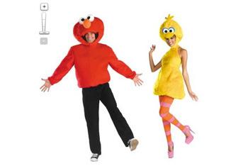 Elmo and Big Bird costumes, $79.99, Target.com
