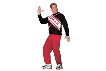 Male Spartan Cheerleader costume, $25, CostumeCraze.com