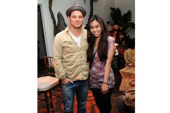 Justin Chambers and Ashley Argota