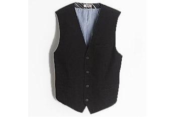 Route 66 Herringbone black vest, $11.99, KMart