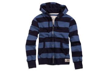 Striped full-zip hoodie, $49.50, American Eagle