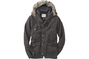 Hooded  twill jacket, $55, Old Navy