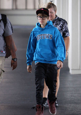 Justin in yet another hoodie