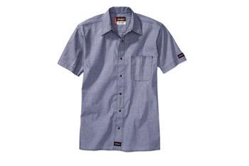 Dickies short sleeve chambray shirt, $15, WalMart