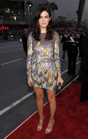 Mandy Moore in a chic mini-dress