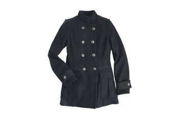 Emmerson coat in black, $89.50, at Delias.com