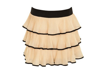 Pleated tipped tier skirt, $42, at MissSelfridge.com