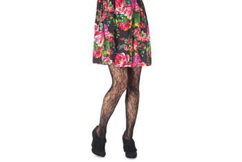 Floral lace tights, $12.50, Delias.com