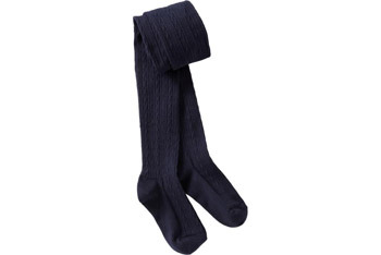 Cable knit navy tights, $7.99, OldNavy.com