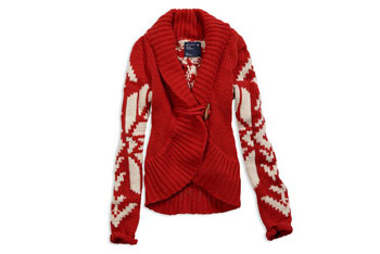 Snowflake toggle sweater, $69.95, at American Eagle