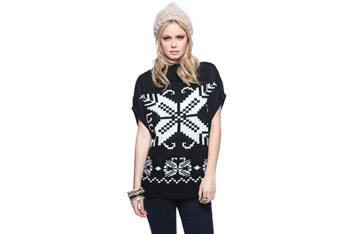 Cross stitch short sleeved sweater, $29.80, at Forever21.com