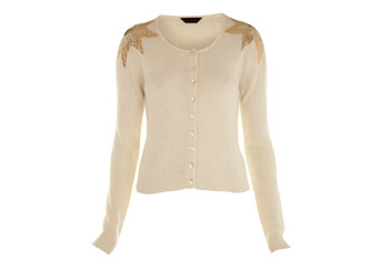 Shoulder star cardigan, $30, at MissSelfridge.com