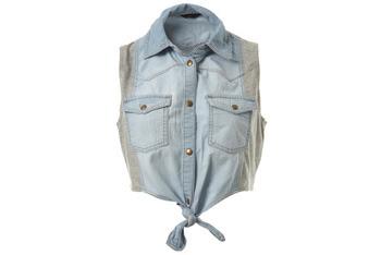 Jersey insert panel shirt, $25, MissSelfridge.com
