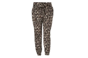 Leopard tie waist trousers, $40, NewLook.com