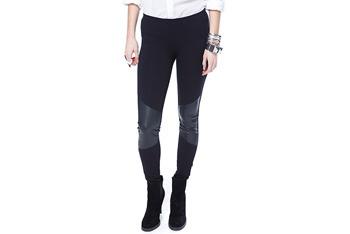 Leatherette knit leggings, $17.80, Forever21.com