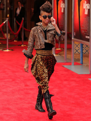 Willow wears head to toe leopard print for a movie premiere