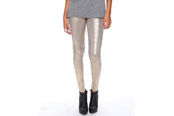 Foiled metallic leggings, $15.80, Forever21.com