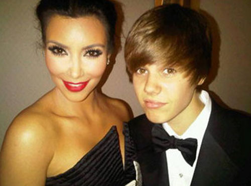 Kim Kardashian and Justin Bieber