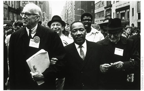 Martin Luther King Jr. leading the march