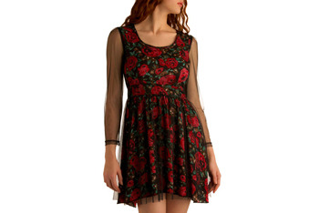 Artsy cool floral dress, $54.99, at ModCloth.com