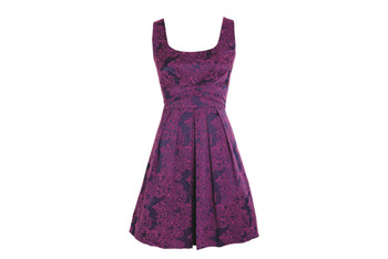 Catrina purple brocade dress, $49.50, at Delias.com