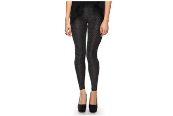 Stylish metallic leggings, $11.80, at Forever21.com