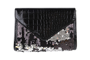 Leatherette sequin clutch, $15.80, at Forever21.com