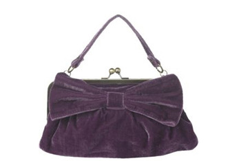 Velvet bow clutch, $8, at NewLook.com