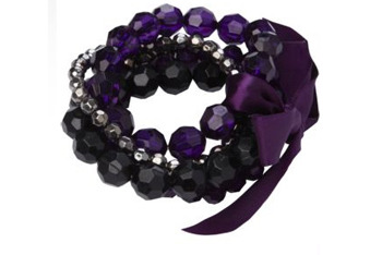Faceted bead bracelet, $8, at NewLook.com
