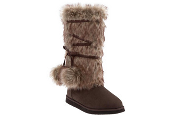 Pom Pom Faux Fur Adoraboots, $30, at OldNavy.com