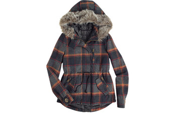 Tori Plaid Coat, $69.50, at Delias.com